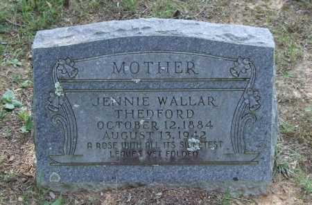 THEDFORD, JENNIE - Perry County, Arkansas | JENNIE THEDFORD - Arkansas Gravestone Photos