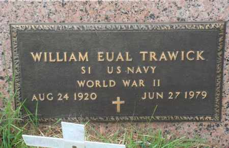 TRAWICK (VETERAN WWII), WILLIAM EUAL - Perry County, Arkansas | WILLIAM EUAL TRAWICK (VETERAN WWII) - Arkansas Gravestone Photos