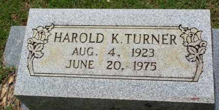 TURNER, HAROLD K - Perry County, Arkansas | HAROLD K TURNER - Arkansas Gravestone Photos