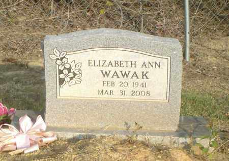 WAWAK, ELIZABETH ANN - Perry County, Arkansas | ELIZABETH ANN WAWAK - Arkansas Gravestone Photos