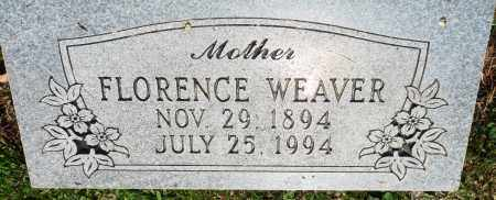 WEAVER, FLORENCE - Perry County, Arkansas | FLORENCE WEAVER - Arkansas Gravestone Photos