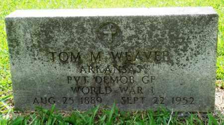 WEAVER (VETERAN WWI), TOM M - Perry County, Arkansas | TOM M WEAVER (VETERAN WWI) - Arkansas Gravestone Photos