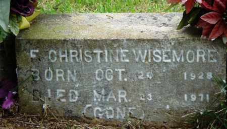 WISEMORE, F CHRISTINE - Perry County, Arkansas | F CHRISTINE WISEMORE - Arkansas Gravestone Photos