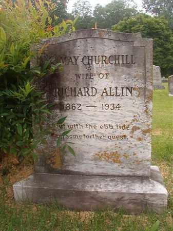 CHURCHILL ALLIN, MAY - Phillips County, Arkansas | MAY CHURCHILL ALLIN - Arkansas Gravestone Photos