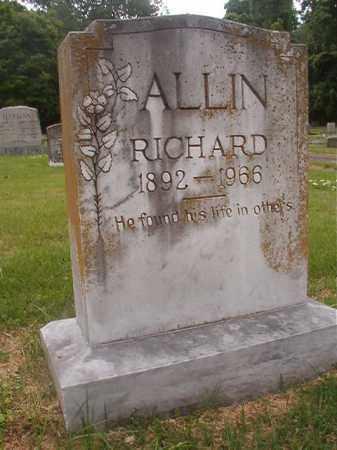 ALLIN, RICHARD - Phillips County, Arkansas | RICHARD ALLIN - Arkansas Gravestone Photos