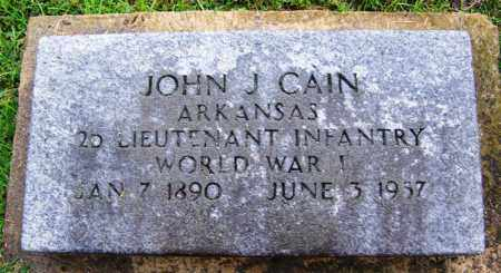 CAIN (VETERAN WWI), JOHN J - Phillips County, Arkansas | JOHN J CAIN (VETERAN WWI) - Arkansas Gravestone Photos
