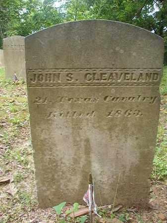 CLEAVELAND (VETERAN CSA), JOHN S - Phillips County, Arkansas   JOHN S CLEAVELAND (VETERAN CSA) - Arkansas Gravestone Photos