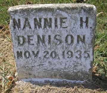 DENISON, NANNIE H. - Phillips County, Arkansas | NANNIE H. DENISON - Arkansas Gravestone Photos