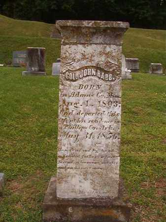 RABB, COL, JOHN - Phillips County, Arkansas | JOHN RABB, COL - Arkansas Gravestone Photos