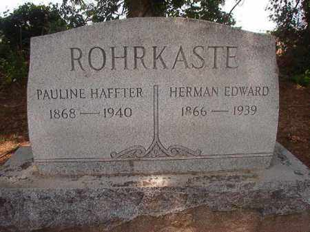 ROHRKASTE, HERMAN EDWARD - Phillips County, Arkansas | HERMAN EDWARD ROHRKASTE - Arkansas Gravestone Photos
