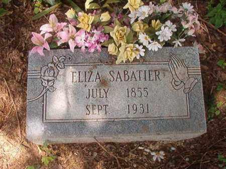 SABATIER, ELIZA - Phillips County, Arkansas | ELIZA SABATIER - Arkansas Gravestone Photos