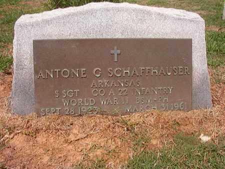 SCHAFFHAUSER (VETERAN WWII), ANTONE G - Phillips County, Arkansas   ANTONE G SCHAFFHAUSER (VETERAN WWII) - Arkansas Gravestone Photos