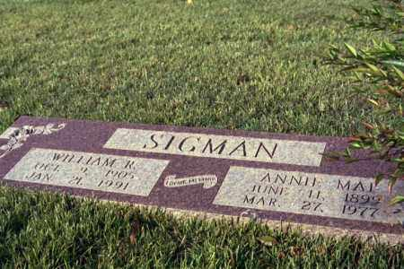 SIGMAN, ANNIE MAE - Phillips County, Arkansas | ANNIE MAE SIGMAN - Arkansas Gravestone Photos