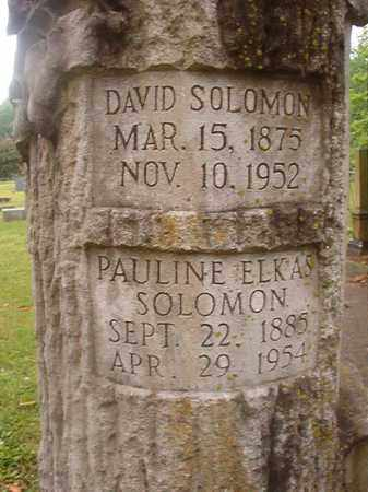 ELKAS SOLOMON, PAULINE - Phillips County, Arkansas | PAULINE ELKAS SOLOMON - Arkansas Gravestone Photos