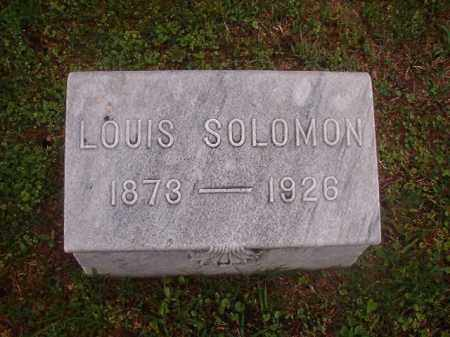 SOLOMON, LOUIS - Phillips County, Arkansas | LOUIS SOLOMON - Arkansas Gravestone Photos