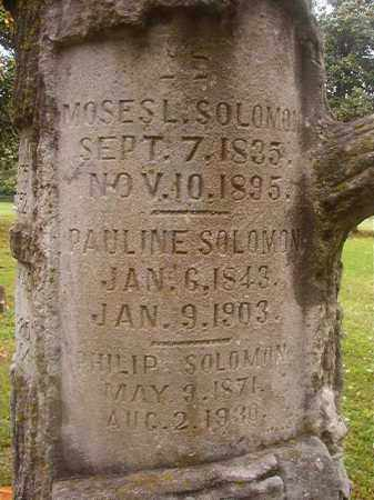 SOLOMON, MOSES L - Phillips County, Arkansas | MOSES L SOLOMON - Arkansas Gravestone Photos