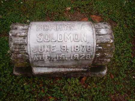 SOLOMON, SOPHYE A - Phillips County, Arkansas | SOPHYE A SOLOMON - Arkansas Gravestone Photos