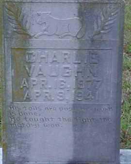 VAUGHN, CHARLIE - Pike County, Arkansas | CHARLIE VAUGHN - Arkansas Gravestone Photos