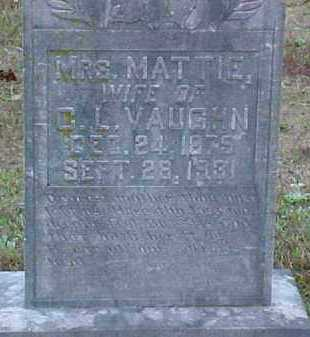 VAUGHN, MATTIE - Pike County, Arkansas | MATTIE VAUGHN - Arkansas Gravestone Photos