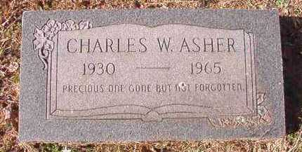 ASHER, CHARLES W - Pike County, Arkansas | CHARLES W ASHER - Arkansas Gravestone Photos