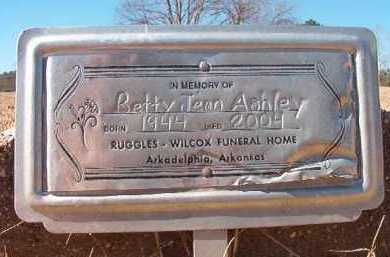 ASHLEY, BETTY JEAN - Pike County, Arkansas | BETTY JEAN ASHLEY - Arkansas Gravestone Photos