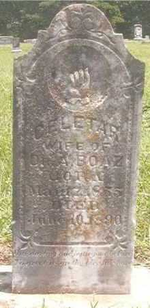 BOAZ, CELETAR - Pike County, Arkansas | CELETAR BOAZ - Arkansas Gravestone Photos