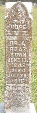 BOAZ, A, DR - Pike County, Arkansas | A, DR BOAZ - Arkansas Gravestone Photos