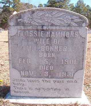 HAMMONS BONNER, FLOSSIE - Pike County, Arkansas | FLOSSIE HAMMONS BONNER - Arkansas Gravestone Photos