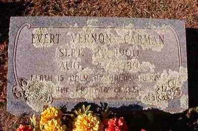 CARMAN, EVERT VERNON - Pike County, Arkansas | EVERT VERNON CARMAN - Arkansas Gravestone Photos