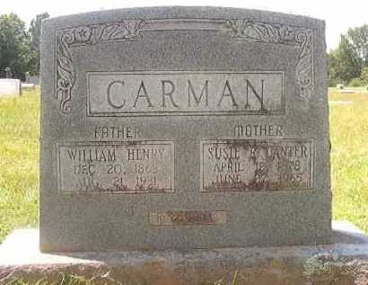 CANTER CARMAN, SUSIE R - Pike County, Arkansas | SUSIE R CANTER CARMAN - Arkansas Gravestone Photos
