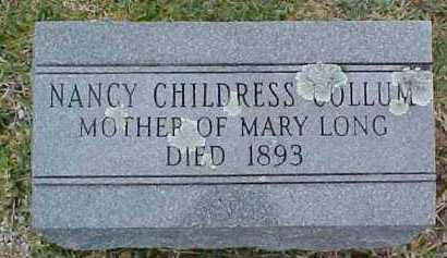 CHILDRESS COLLUM, NANCY - Pike County, Arkansas | NANCY CHILDRESS COLLUM - Arkansas Gravestone Photos