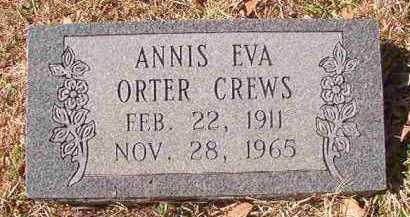 ORTER CREWS, ANNIS EVA - Pike County, Arkansas | ANNIS EVA ORTER CREWS - Arkansas Gravestone Photos