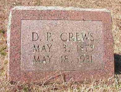 CREWS, D P - Pike County, Arkansas | D P CREWS - Arkansas Gravestone Photos
