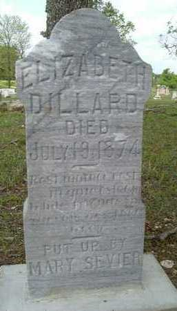 DILLARD, ELIZABETH - Pike County, Arkansas | ELIZABETH DILLARD - Arkansas Gravestone Photos