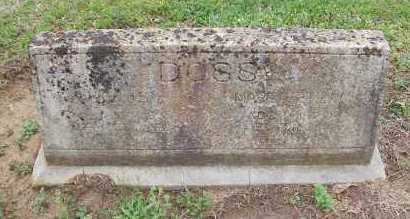 DOSS  (VETERAN CSA), WILLIS HOPWOOD - Pike County, Arkansas | WILLIS HOPWOOD DOSS  (VETERAN CSA) - Arkansas Gravestone Photos