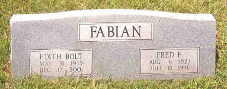 BOLT FABIAN, EDITH - Pike County, Arkansas | EDITH BOLT FABIAN - Arkansas Gravestone Photos