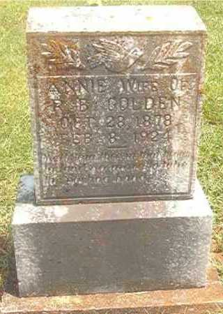 GOLDEN, ANNIE - Pike County, Arkansas | ANNIE GOLDEN - Arkansas Gravestone Photos