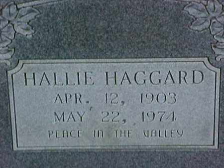 HAGGARD, HALLIE - Pike County, Arkansas | HALLIE HAGGARD - Arkansas Gravestone Photos