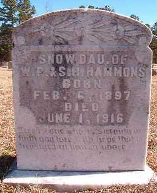 HAMMONS, SNOW - Pike County, Arkansas | SNOW HAMMONS - Arkansas Gravestone Photos