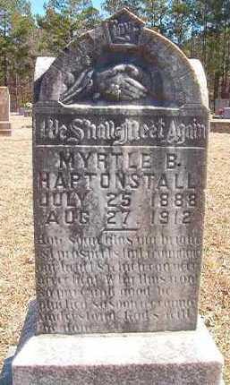 HAPTONSTALL, MYRTLE B - Pike County, Arkansas | MYRTLE B HAPTONSTALL - Arkansas Gravestone Photos