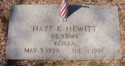 HEWITT (VETERAN KOR), HAZE K - Pike County, Arkansas | HAZE K HEWITT (VETERAN KOR) - Arkansas Gravestone Photos