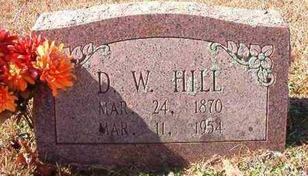 HILL, D W - Pike County, Arkansas | D W HILL - Arkansas Gravestone Photos