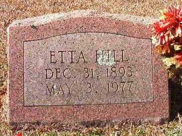 HILL, ETTA - Pike County, Arkansas | ETTA HILL - Arkansas Gravestone Photos