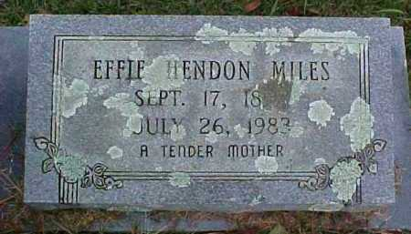 HENDON MILES, EFFIE LAVADA - Pike County, Arkansas | EFFIE LAVADA HENDON MILES - Arkansas Gravestone Photos