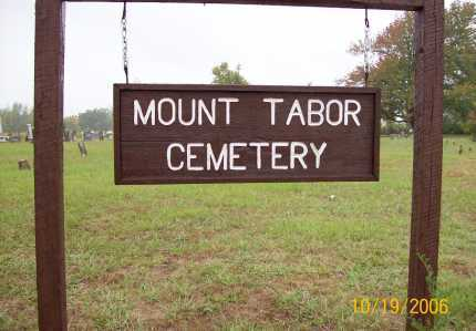*MOUNT TABOR  SIGN,  - Pike County, Arkansas |  *MOUNT TABOR  SIGN - Arkansas Gravestone Photos