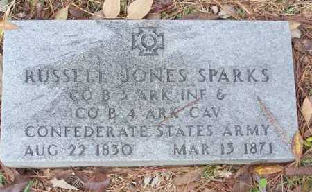 SPARKS  (VETERAN CSA), RUSSELL JONES - Pike County, Arkansas | RUSSELL JONES SPARKS  (VETERAN CSA) - Arkansas Gravestone Photos