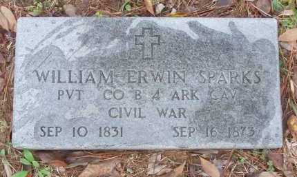 SPARKS  (VETERAN CSA), WILLIAM ERWIN - Pike County, Arkansas | WILLIAM ERWIN SPARKS  (VETERAN CSA) - Arkansas Gravestone Photos
