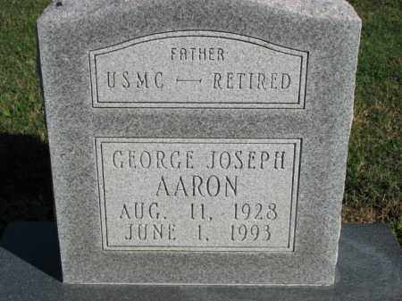 AARON (VETERAN), GEORGE JOSEPH - Poinsett County, Arkansas | GEORGE JOSEPH AARON (VETERAN) - Arkansas Gravestone Photos