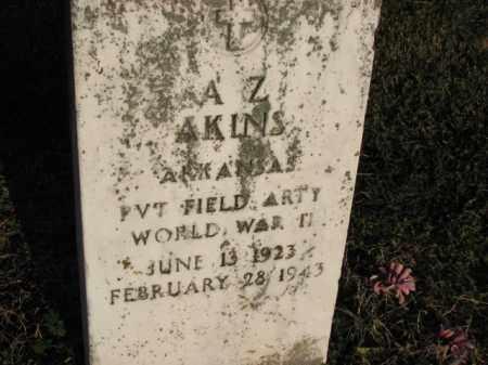 AKINS (VETERAN WWII), A.Z. - Poinsett County, Arkansas | A.Z. AKINS (VETERAN WWII) - Arkansas Gravestone Photos