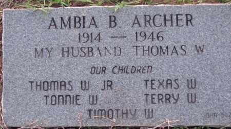 ARCHER, AMBIA B. - Poinsett County, Arkansas | AMBIA B. ARCHER - Arkansas Gravestone Photos